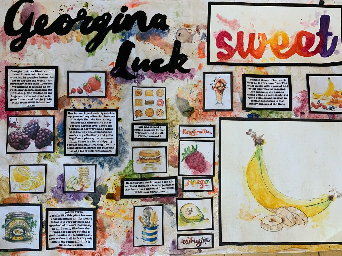 Sra Art On Twitter A Selection Of Gcse Artist Research Sheets Superb Work Beautifully Presented