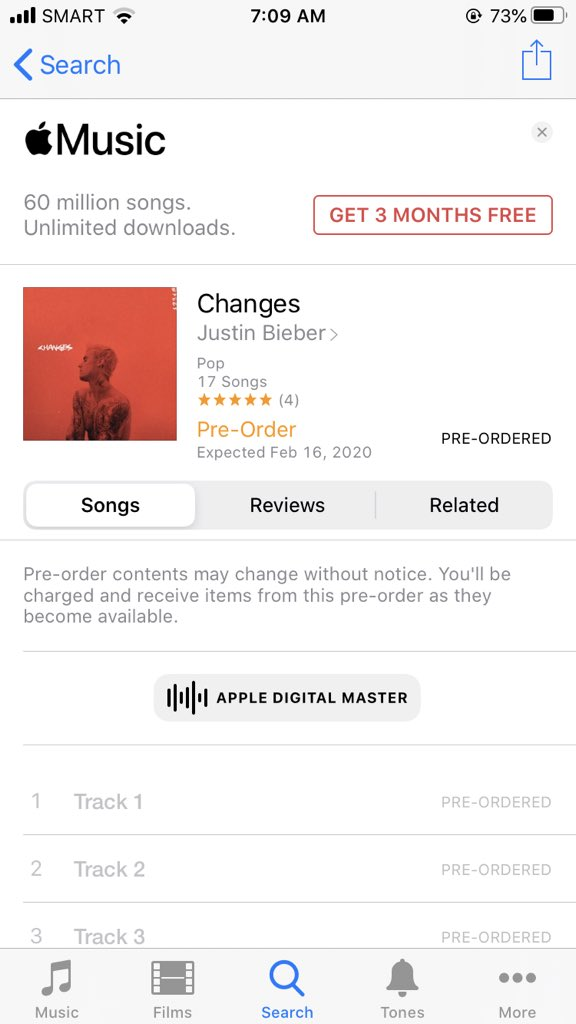 Filipino Beliebers, Pre-Order #Changes on iTunes. Lets support Justins come back! Hes also trending on iTunes PH! #Bieber2020