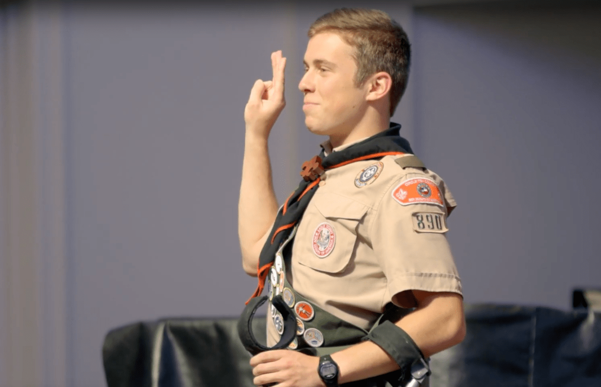 This Eagle Scout will inspire you to overcome any obstacle. blog.scoutingmagazine.org/2018/12/24/thi…