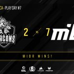 Image for the Tweet beginning: Another one-sided match! @mibr demolished