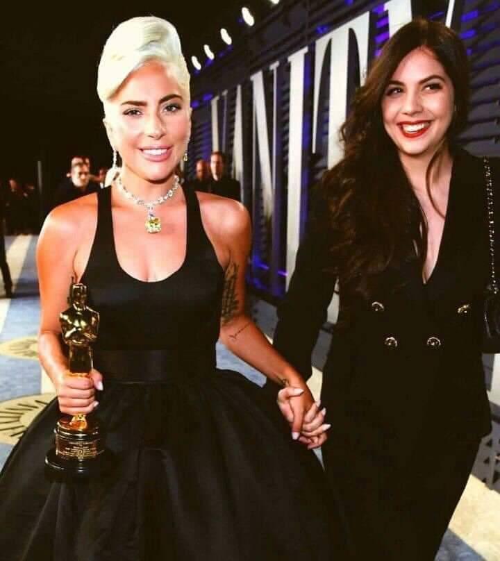[Photo] @ladygaga  with shes sister at the Oscars 2019 after of Gaga wins.  #LadyGaga  #LG6  #LadyGagaIsComing  #Oscars2019  #AStarIsBorn