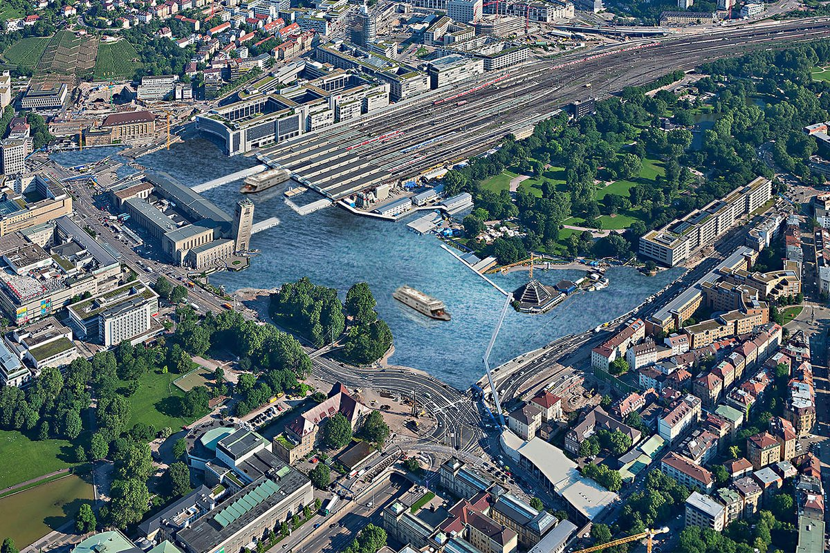 Stuttgart 21 ist kein Immobilien sondern ein Naherholungsprojekt - Seenlandschaft #S21