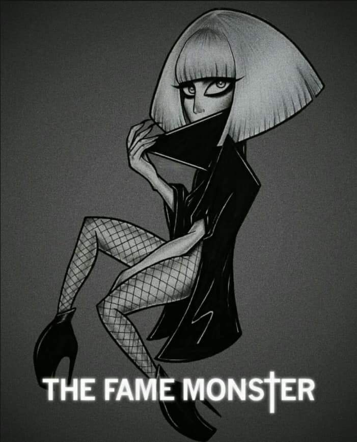 @ladygaga  in a draw of shes first album repackage #thefamemonster    #LadyGaga  #LadyGagaIsComing  #LG6  #StupidLove  #AStarIsBorn  #Enigma