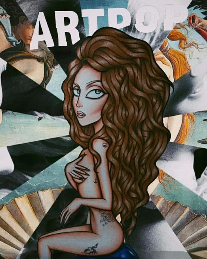 @ladygaga  in a fan draw, from shes third album #artpop , shes looks amazing  #LadyGaga  #LadyGagaIsComing  #LG6  #StupidLove  #AStarIsBorn  #Enigma