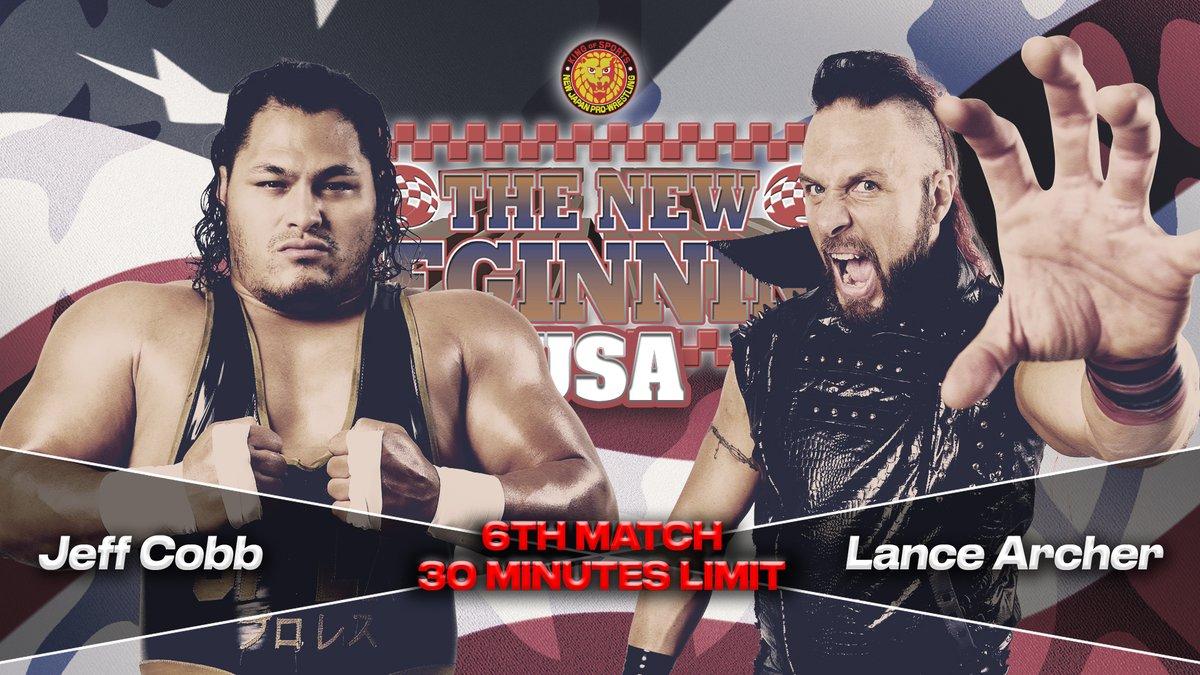 NJPW New Beginning USA: Atlanta Results : Title Change, Lance Archer Vs. Jeff Cobb