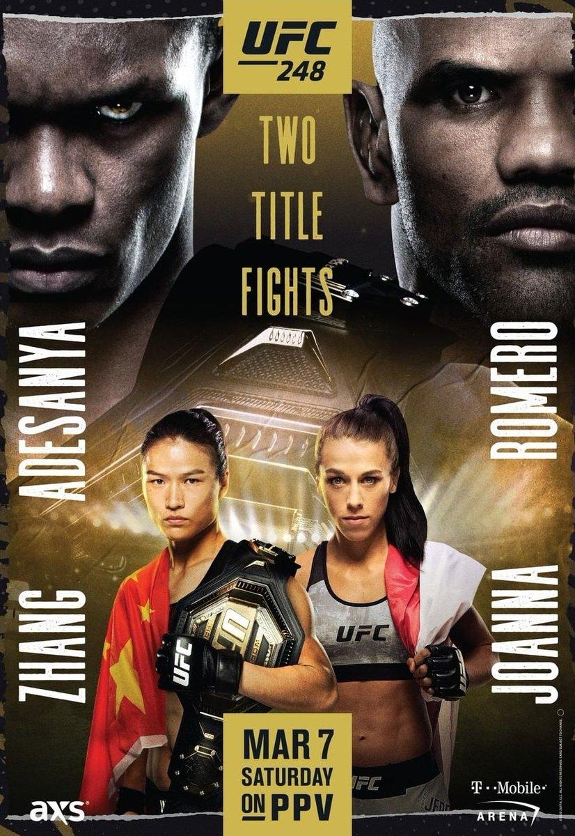 UFC 248 Adesanya vs Romero poster