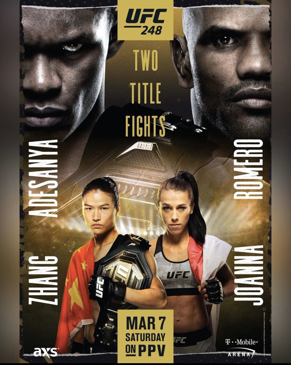 OFFICIAL POSTER #UFC248 I'll see ya soon❤️ @ufc https://t.co/I4kLBy92sL