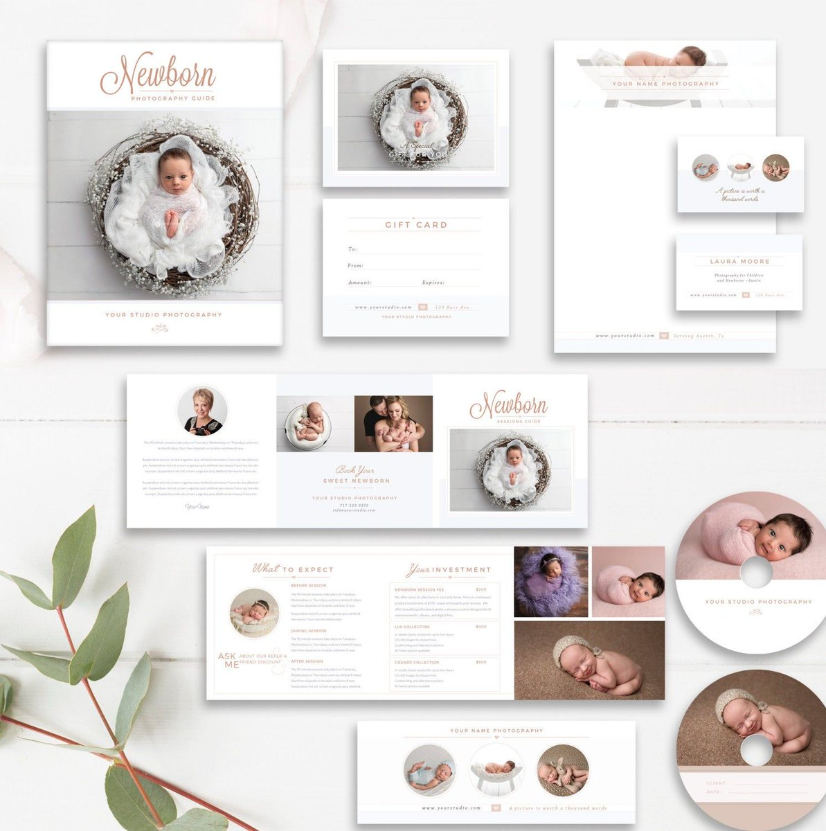 Make your photography business stand out and surprise your clients with a beautiful theme that's present in every point of interaction with this custom Marketing Set >> https://buff.ly/3126nbg  #photography #design #newbornphotography pic.twitter.com/tNjKqS4INE