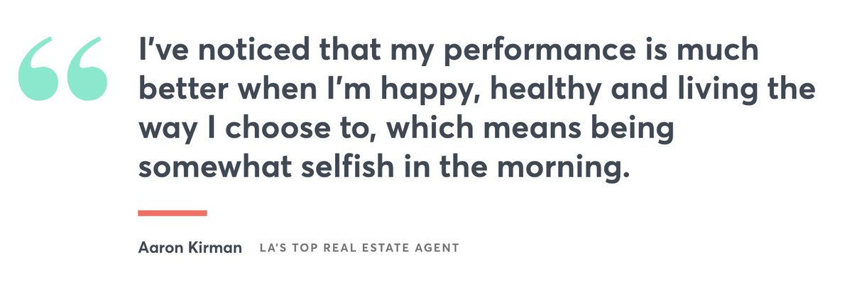 A millionaire real-estate agent shares his detailed morning routine, which can take hours. (via @CNBCMakeIt) https://cnb.cx/36su8Kt