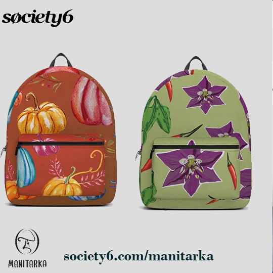 #elegant #modern #unique #summer #autumn #nature #beauty #backpack #bags #travel #dufflebag #buyonline @Society6 #Manitarka Click to shop 20 % off today