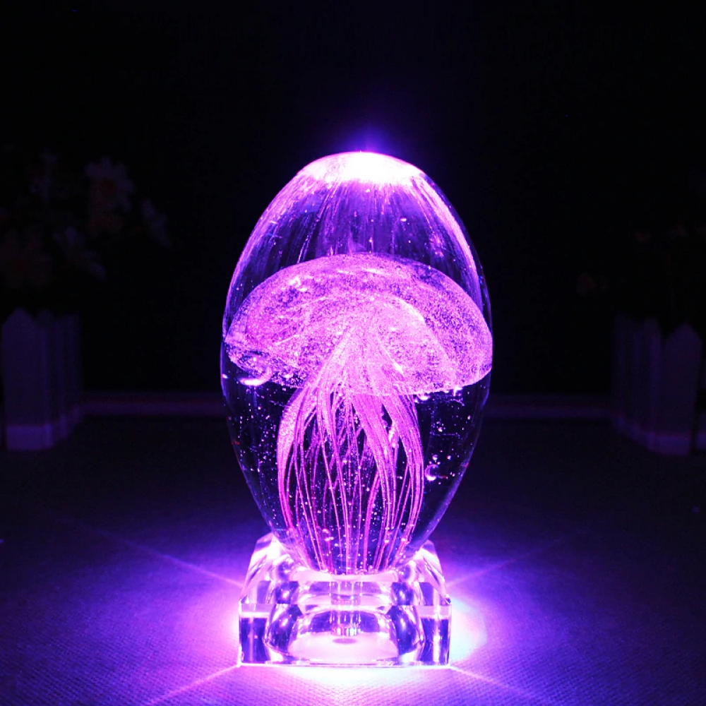 #beauty Colorful Jellyfish Night Light 3D Table Lamp