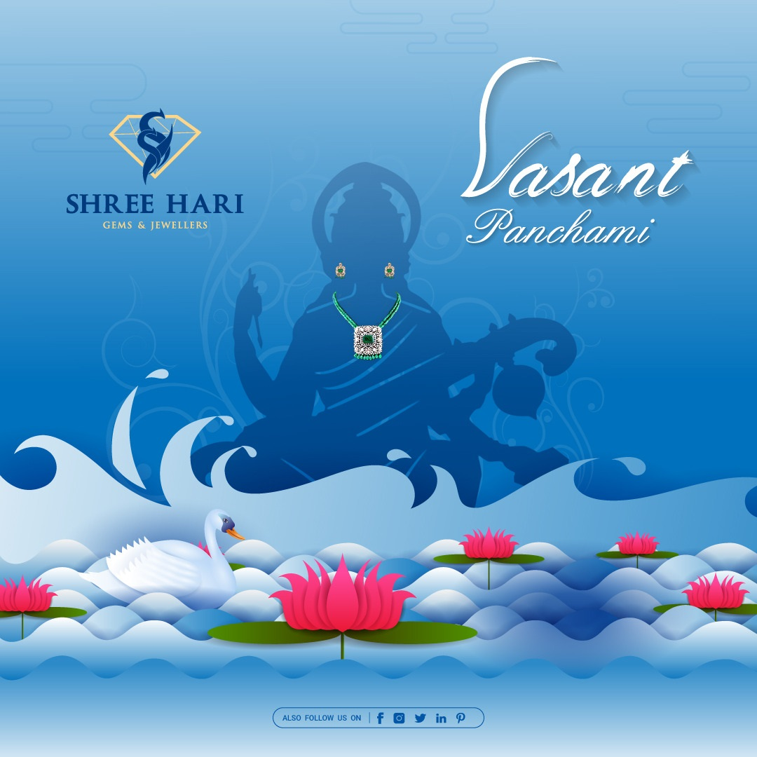 Happy Vasant Panchami, . . . #HappyBasantPanchami ##HappyVasantPanchami #BasantPanchami #VasantPanchami #SaraswatiPuja #Saraswati #ShreeHari #ShreeHariJewellers #Jewellers #Collection #Gold #Silver #JewelryArt #GoldJewellery #Jewellery #Fashion #Gold #Bracelet #Jewels #Style
