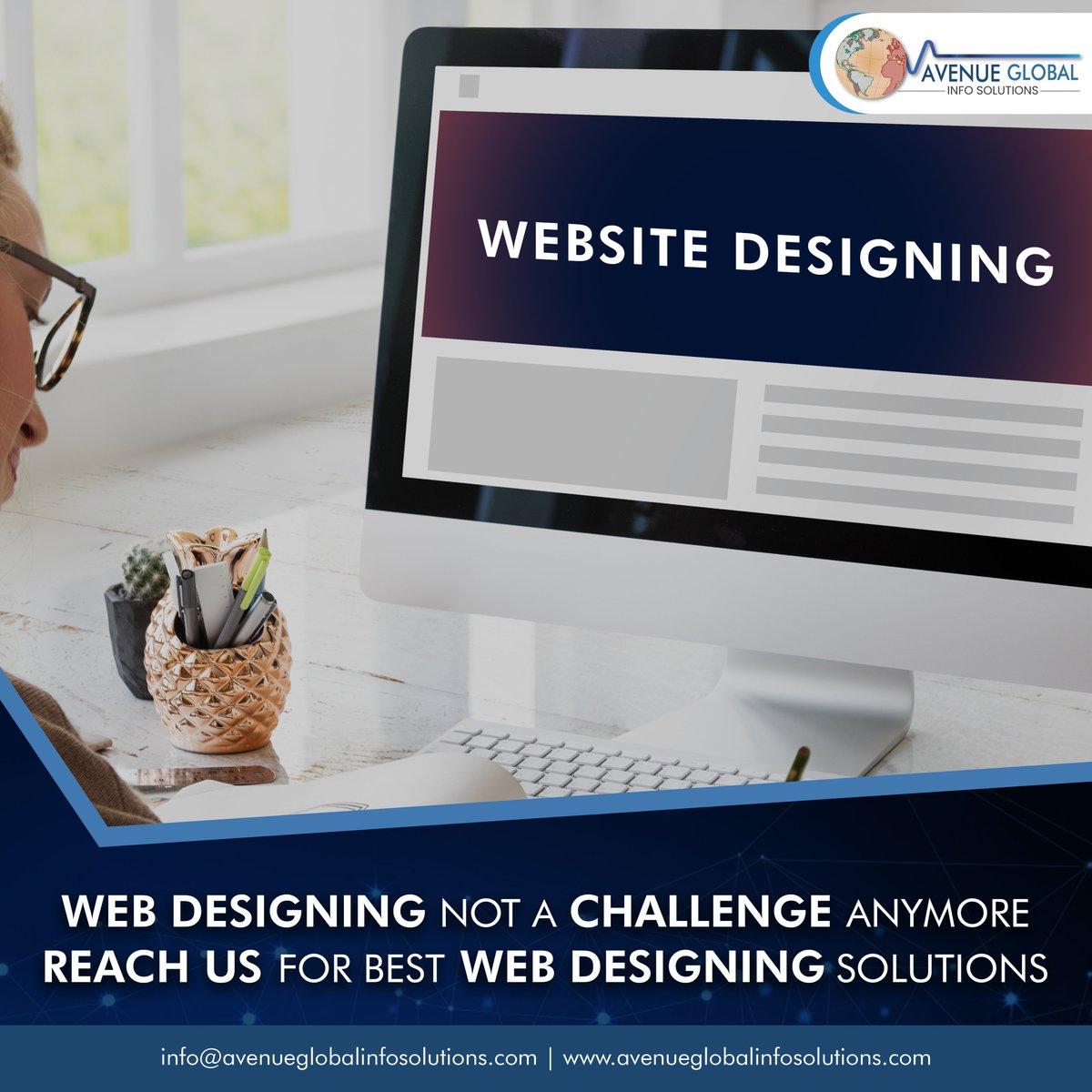Get best #webdesigning from Avenue Global Info Solutions  #webdesign #whywebdevelopment #Digitalmarketing #webdesigncompany #websitedeveloper #webdesigntips #instatech #instatechno #Avenueglobalinfosolutions #avenueglobal #Websitedevelopment #websitebuilder #technique #techiepic.twitter.com/LApvHLVtPs