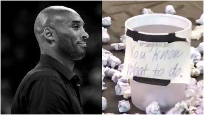 【影片】最獨特的送別方式!美國球迷用扔紙團「打鐵」悼念Kobe,笑中有淚!-Haters-黑特籃球NBA新聞影音圖片分享社區