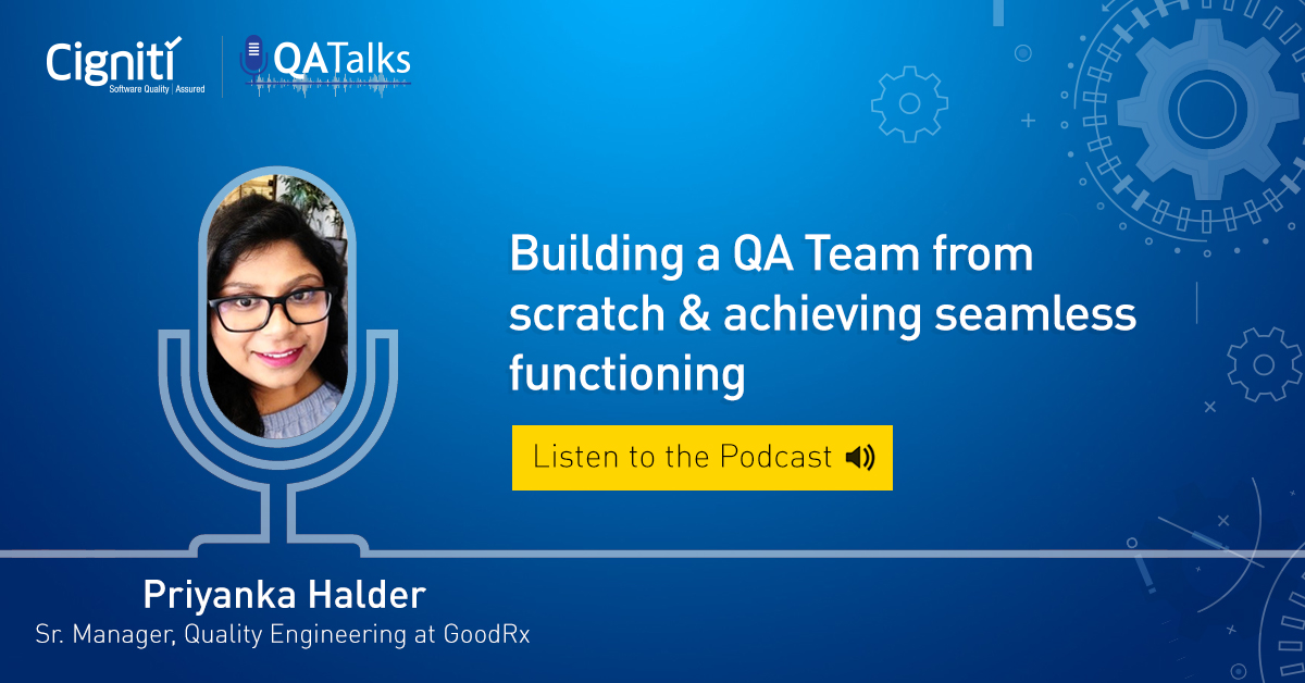 Priyanka Halder - QA Talks - Cigniti Technologies