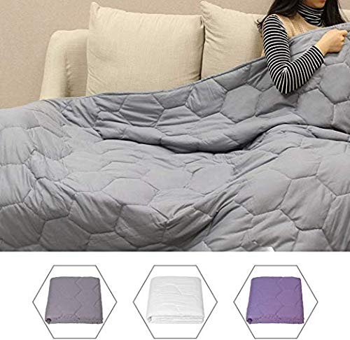 50% off. Use code WT3SGYHZ . LONGFINE KeeVigo Weighted Blanket 15lbs for 140-150lbs Children and Adult Soft with Removable Cover .    #amazon #deals #discount #offer #Home