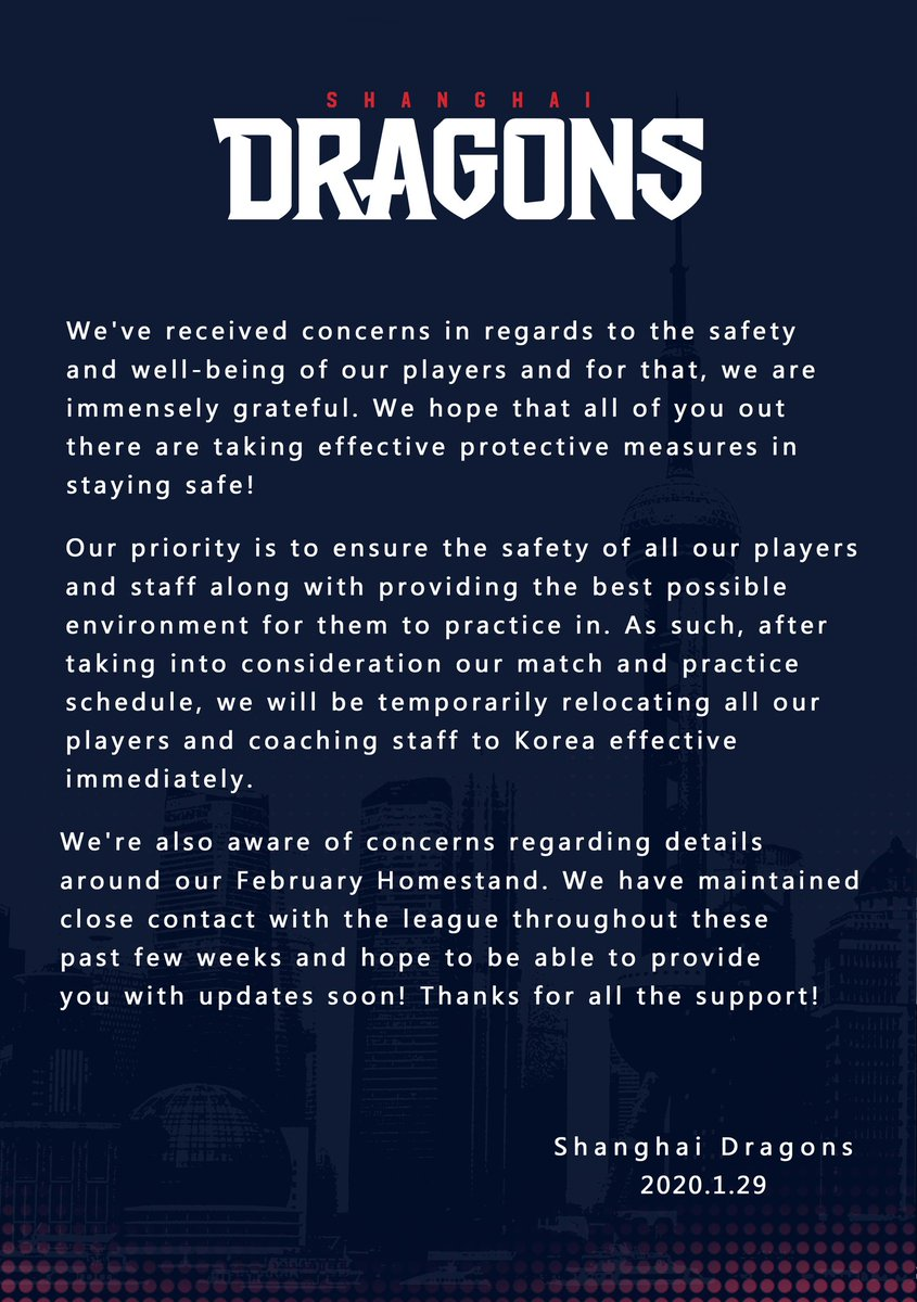 Update regarding the safety of our team and our plan moving forward.