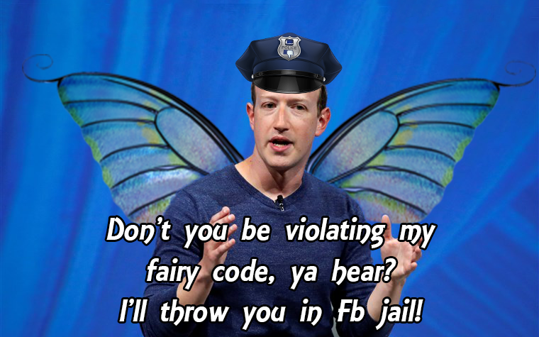 WARNING EVERYONE!!! Watch out for the Social Gestapo's Fairy Patrol Hit Squad! I caught their leader Fuckerberg on camera! pic.twitter.com/aq1N8EiPyj