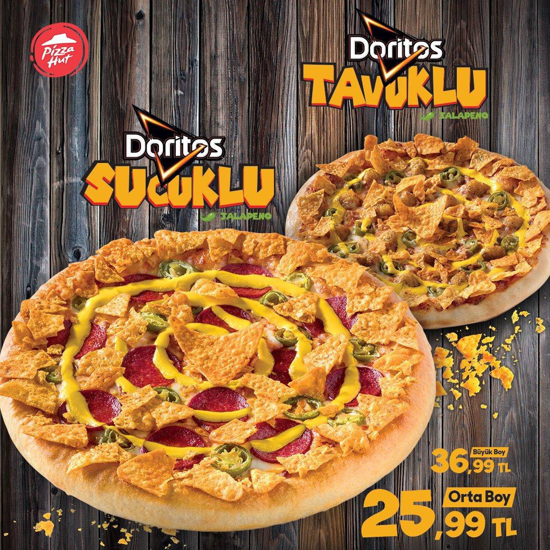 Pizza Hut ve Doritos'tan yepyeni bir pizza: DORİTOS PİZZA! ❤ İster sucuklu, ister tavuklu… Tarafını seç, bu muhteşem lezzete sen de ortak ol! Deneyimlerini bizimle paylaşmayı unutma. 😉 Tıkla&Ara&Kapında📱💻  📞444 6 555 #pizzahut #pizza