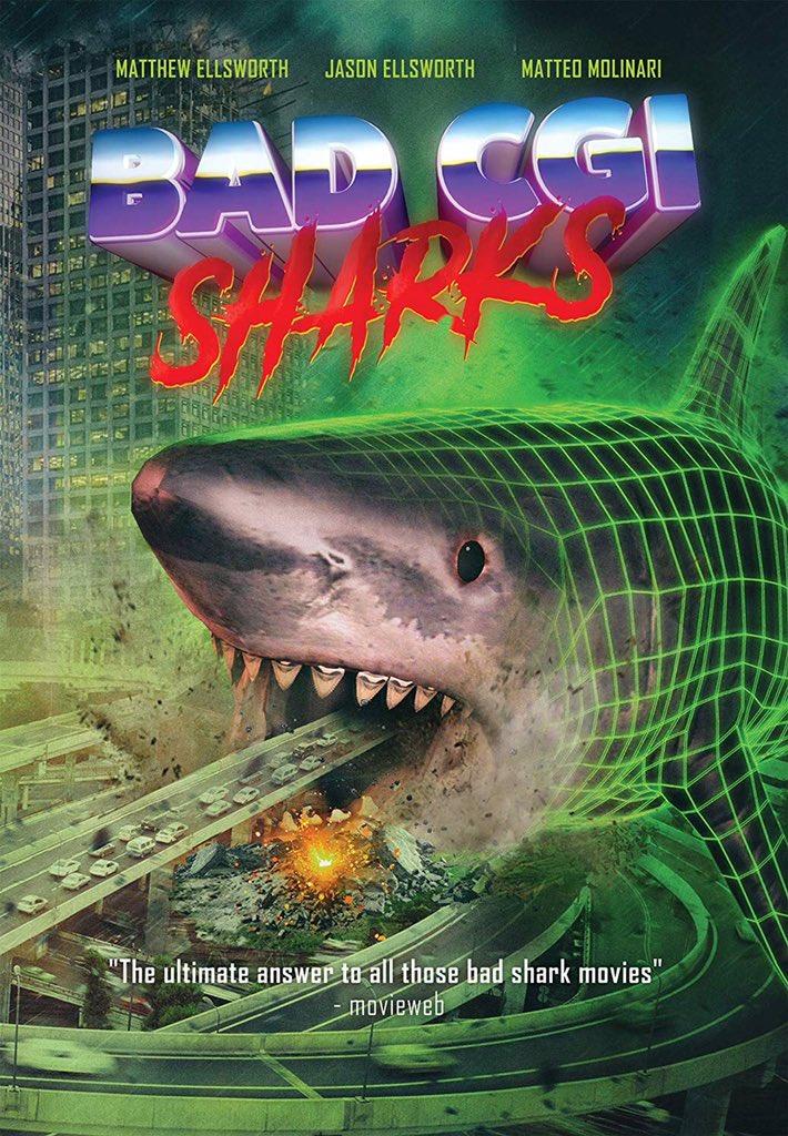 """新作サメ映画""""Bad CGI Sharks""""観たんだけど、3DモデルのXYZ軸が映ってて死ぬかと思った"""