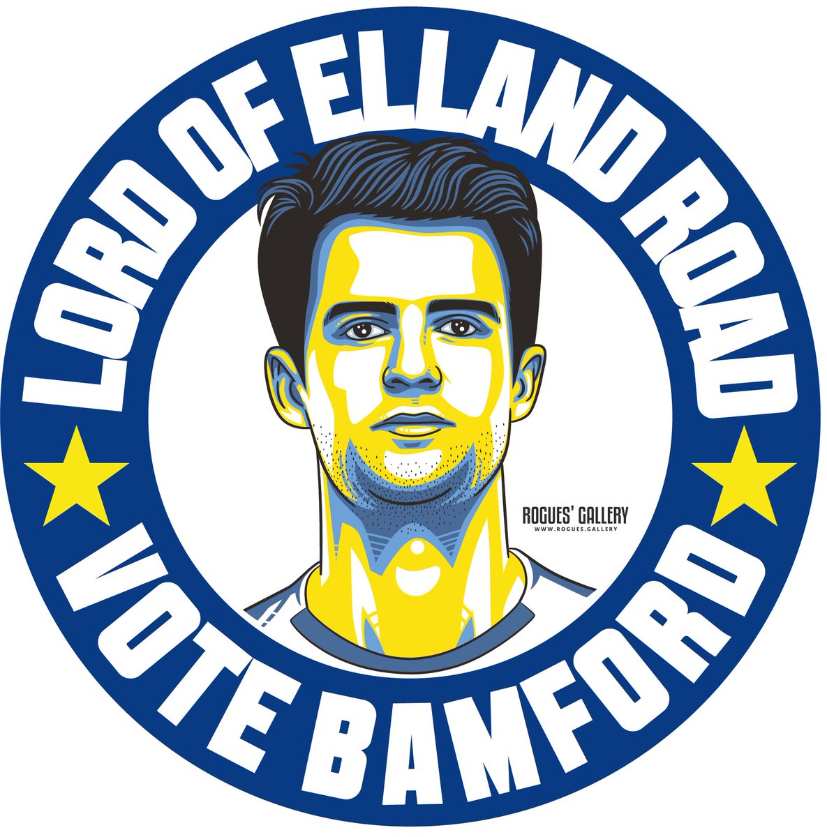 The latest of our #lufc #GetBehindTheLads designs features none other than the Lord of Elland Road @Patrick_Bamford - been waiting to release this for a while but after his brace last night... 🔥👌🏻 Campaign #stickers & beer🍺 mats from rogues.gallery now! 👀 #lufc #Leeds