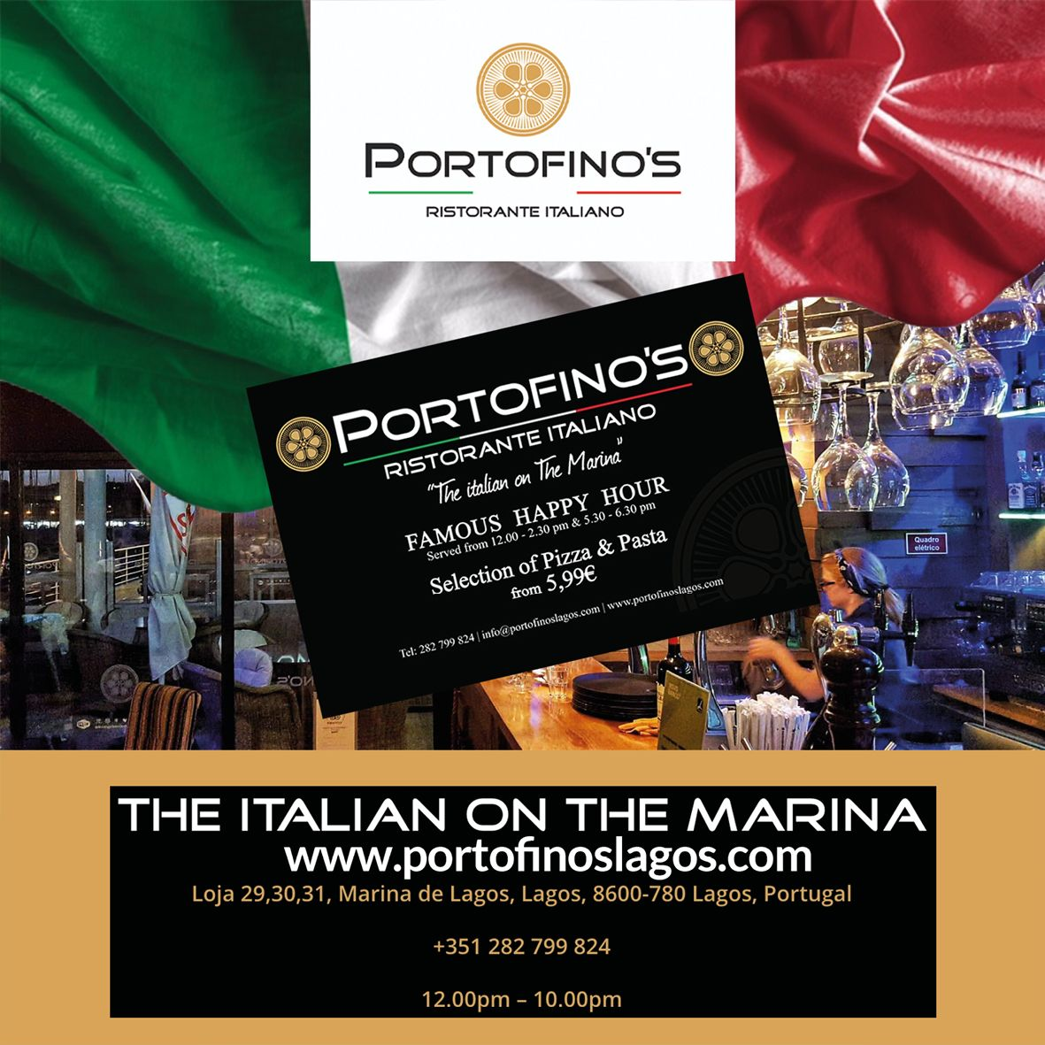 Happy hours 7 days a week 12-2 & 5.30 -6.30 everyday large selection of pizza and pasta from 5.99 Seafood special menu with locally caught fresh fish from the local fish market.  #italianfood #italianrestaurant #italiancuisine #pizza #pasta #happyhour