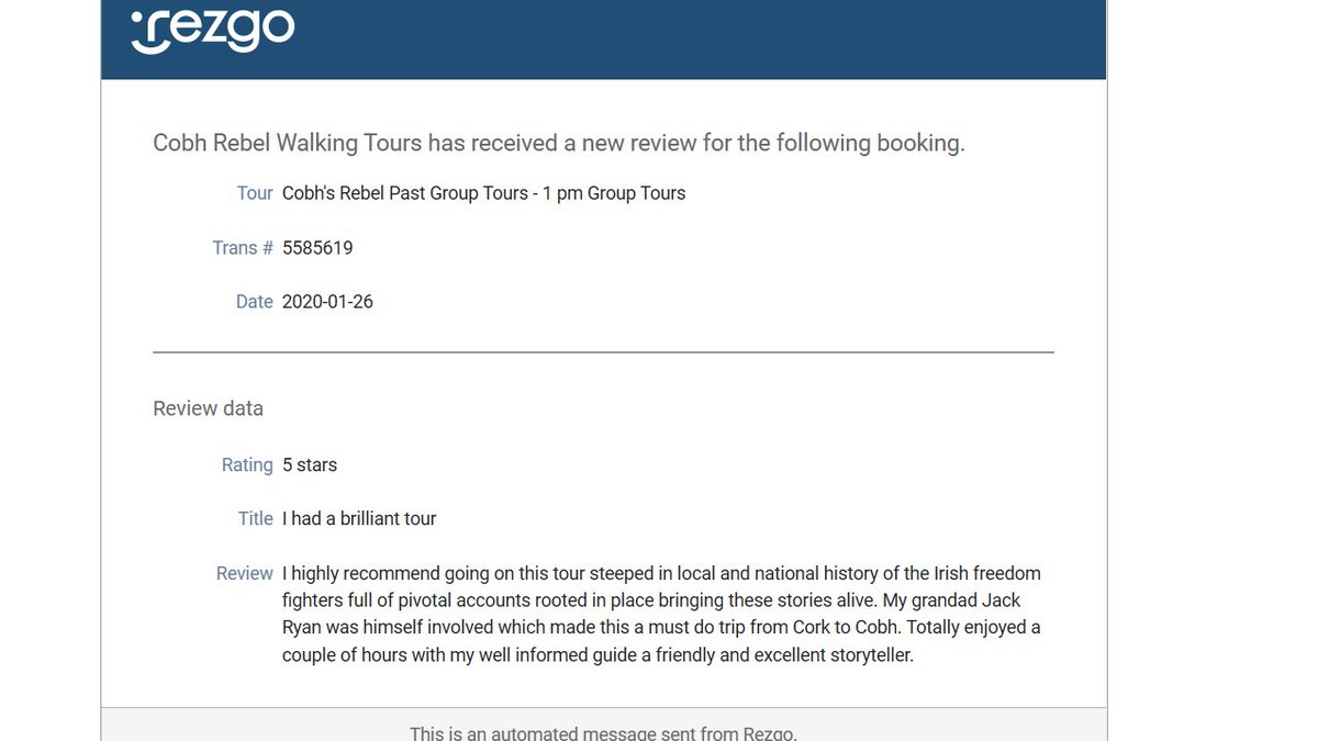 Our Latest review #Cobh #Cork @pure_cork @Airbnb @TripAdvisor @GetYourGuide @CobhTourism @CobhFund @cobhtowntours https://t.co/XzgN9zTXpi