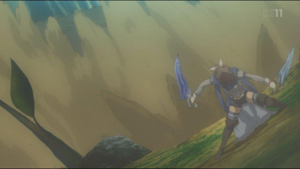 アニメ「痛いのは嫌なので防御力に極振りしたいと思います。」3話  あれだけ無双していたら、スキルとAIの調整は当然ですな しかも次のイベント内容が、調整がメイプルにどれくらい影響が出ているかの、デバッグみたいだよ  サリーの戦闘が、どこぞの弓兵英霊に見えてきた
