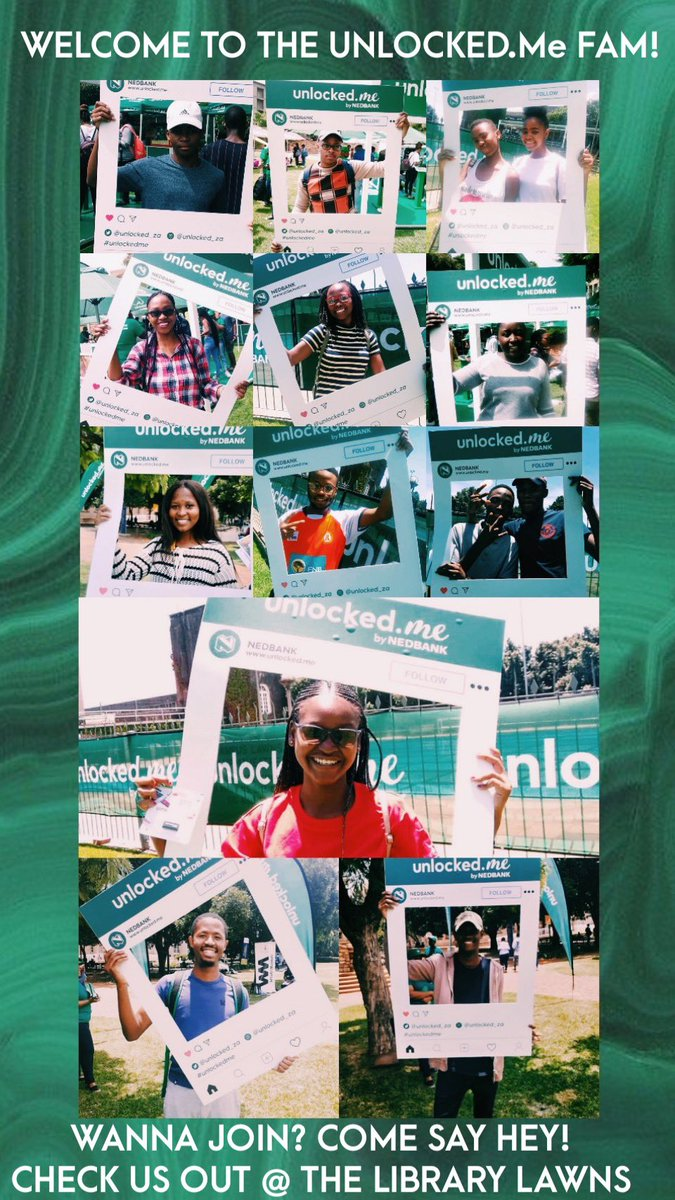 Welcome to the #UnlockedMe Fam @WitsUniversity students! If you want to Unlock your potential, lifestyle, #moneygoals AND walk away with the coolest account ever, the come say hey! We are waiting for you @ the Wits Library Lawns. #UnlockedMeCampusTourpic.twitter.com/AQGx8TvBnJ – at University of the Witwatersrand