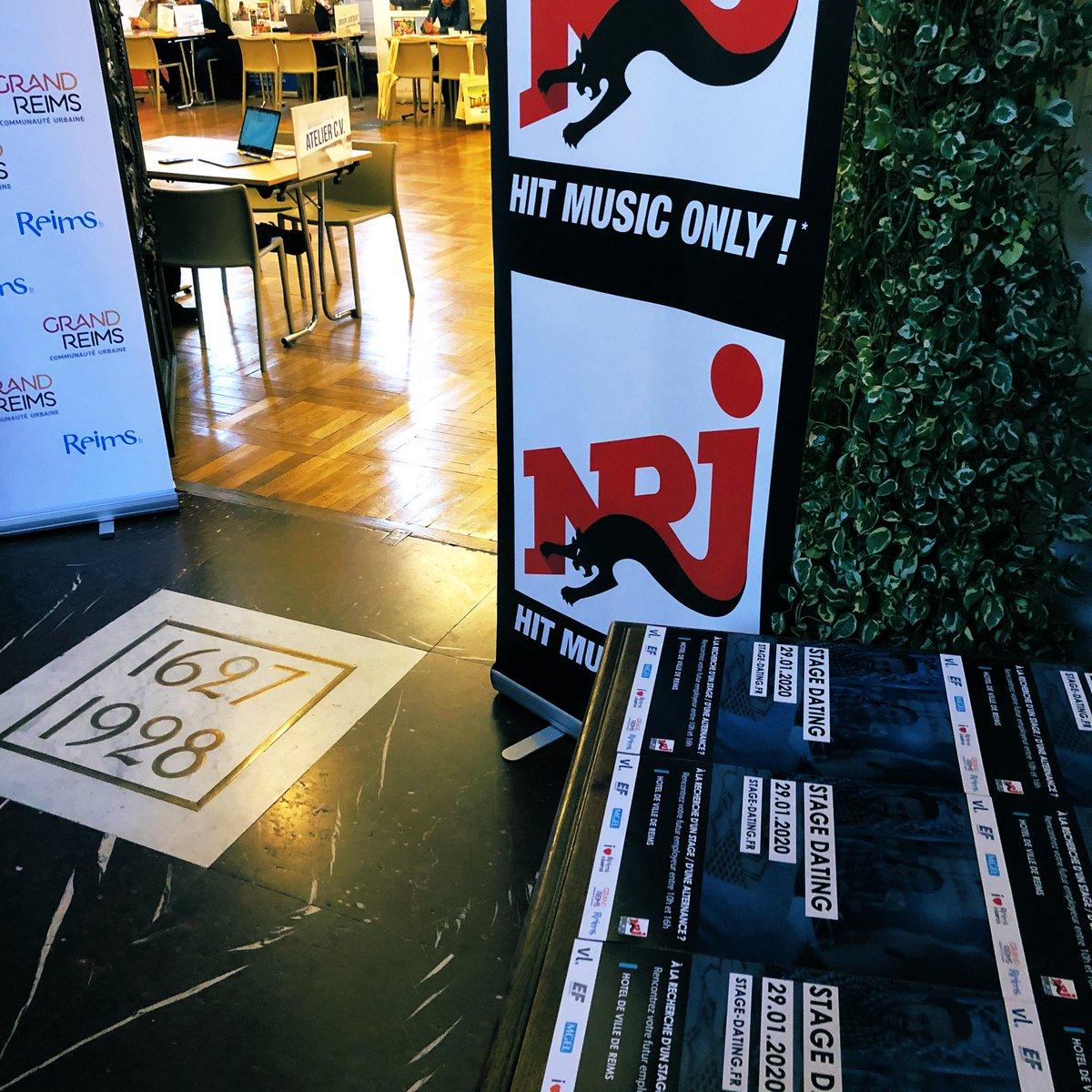 C'est parti! Vous cherchez un stage de 1 à 6 mois. Des dizaines d'entreprises qui recrutent vous attendent au #stagedating jusque 16h à l'hôtel de @VilledeReims  Une évènement #NRJ. #stage #dating #reims #reimscity #reimstagram #nrjpic.twitter.com/Hz7btZCwOw