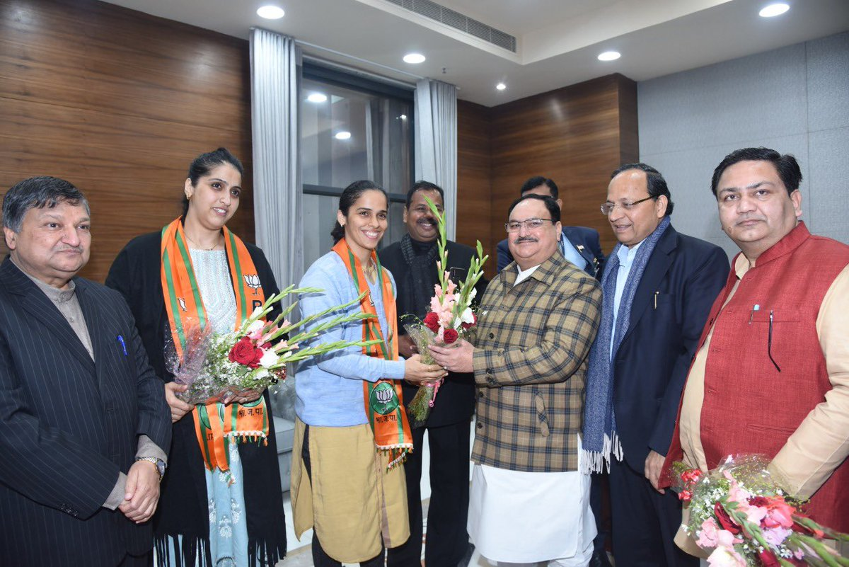 I welcome ace shuttler @nsaina in BJP