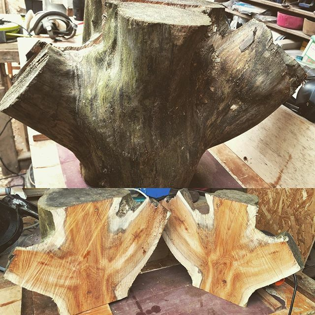 These should make some lovely bowls! #zennormade #cornishyew #woodturning #woodturner #woodturnersofinstagram #woodwork #yew #log #tree #wip #artistatwork #independentartist #cornish #cornwall #woodisgood #woodstagram #igdaily #cut #chainsaw #workshop #woodburning #carve #la…