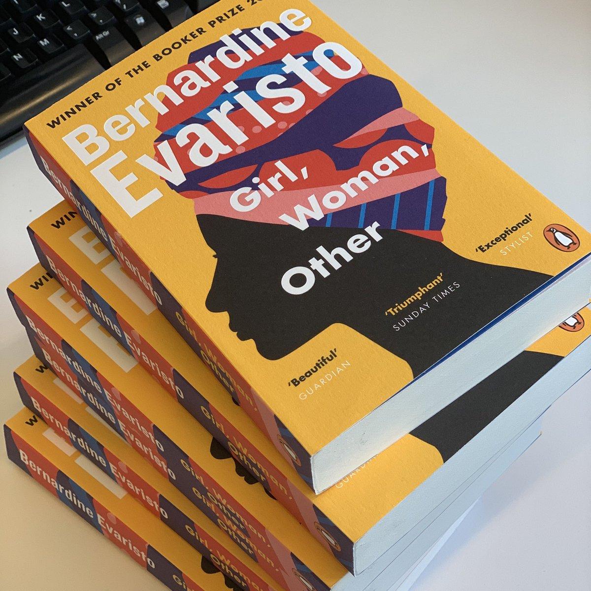 Advance paperback copies just in for @BernardineEvari's Booker winning GIRL, WOMAN, OTHER —