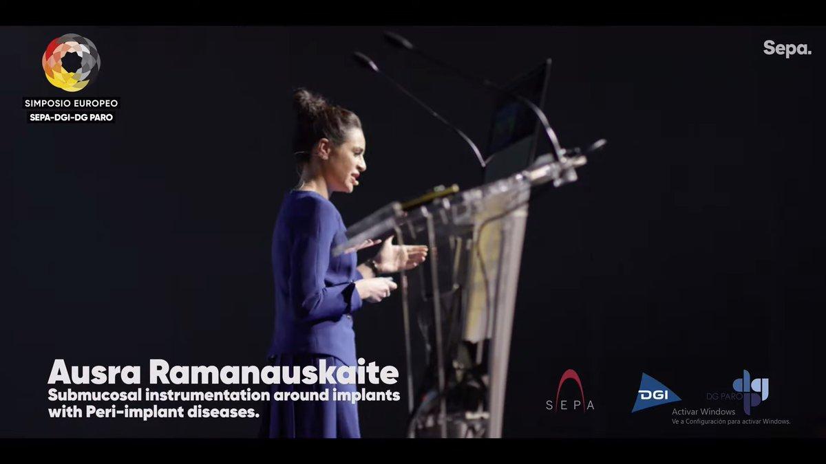 Ausra Ramanauskaite nos deslumbró, en el European Symposium SEPA-DGI-DG PARO, con la instrumentación submucosa alrededor de implantes con periimplantitis.  Con ella aprendimos a fondo cómo se pueden tratar las enfermedades  periimplantarias sin cirugía.  https://www.youtube.com/watch?v=WFI4lZoJS6g…pic.twitter.com/urV1H1hLEe
