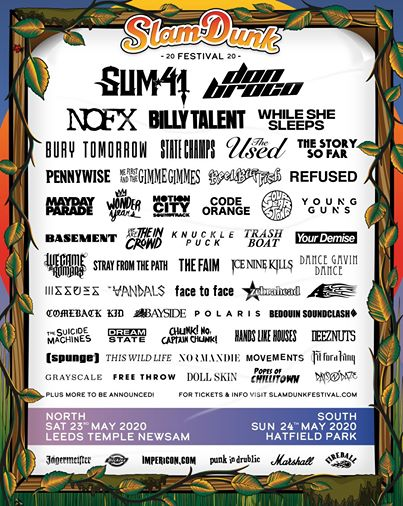 .@whileshesleeps, @codeorangetoth, @thiswildlife and loads more have joined the @SlamDunkMusic line up! Find out the full bill and book tickets now! https://stbrd.in/2U6f7LSpic.twitter.com/1DNdXt924l