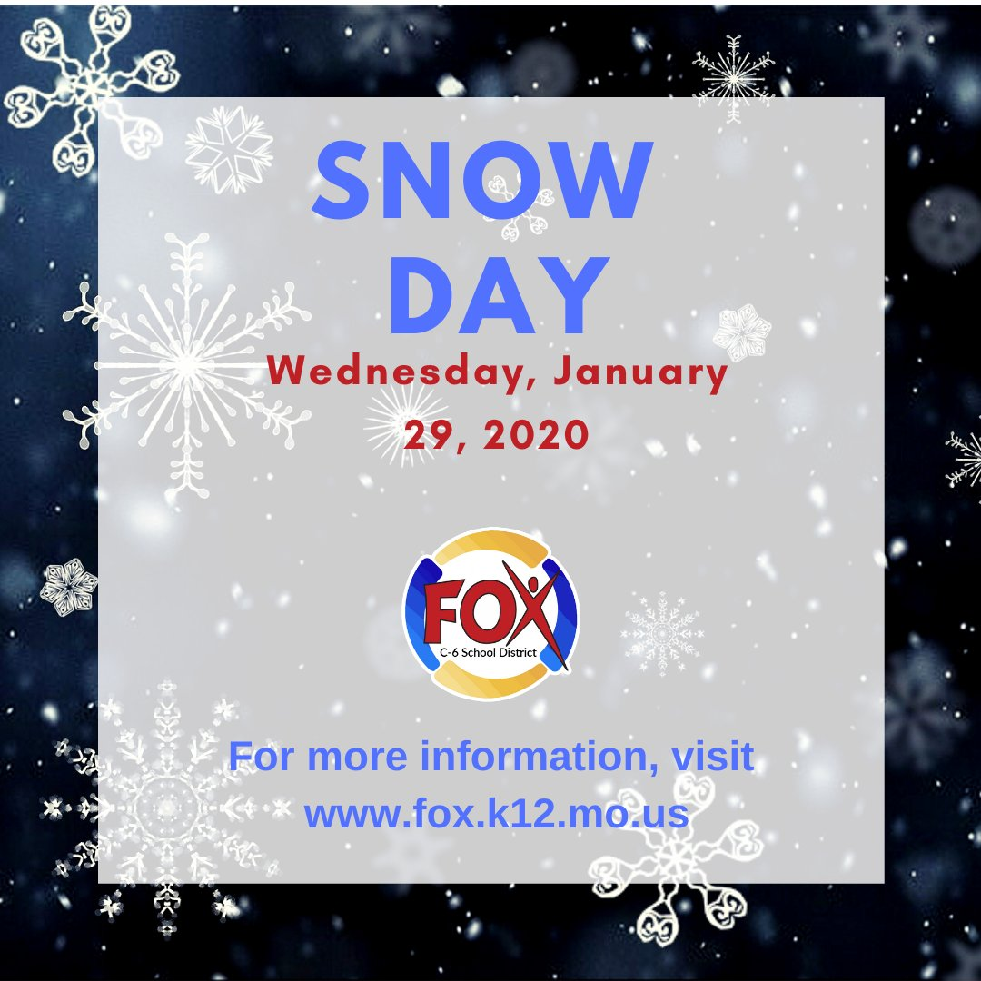 Due to inclement weather and deteriorating road conditions, classes are canceled for today, January 29, 2020.