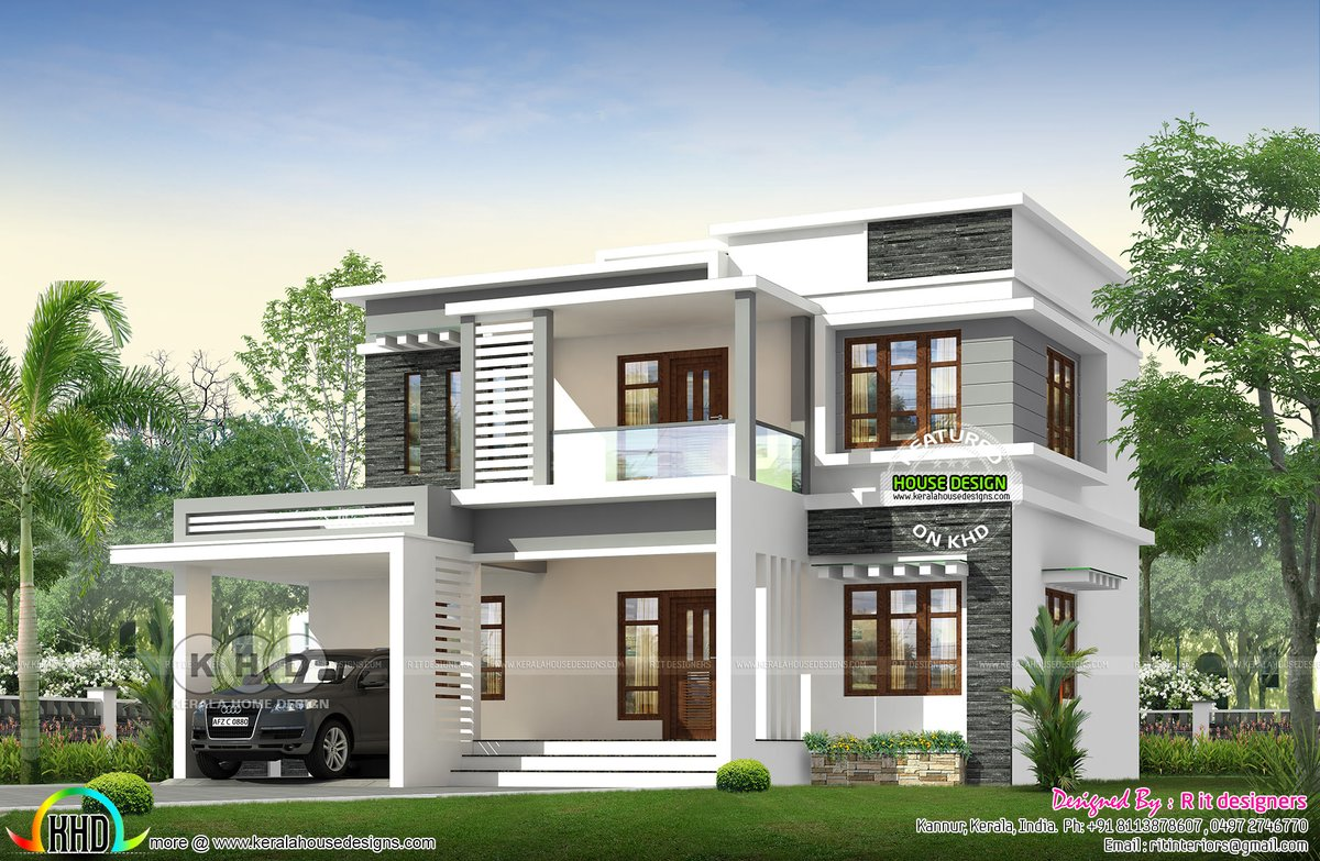 Kerala Home On Twitter Box Model Flat Roof House Design Https T Co Xqolqfyqke