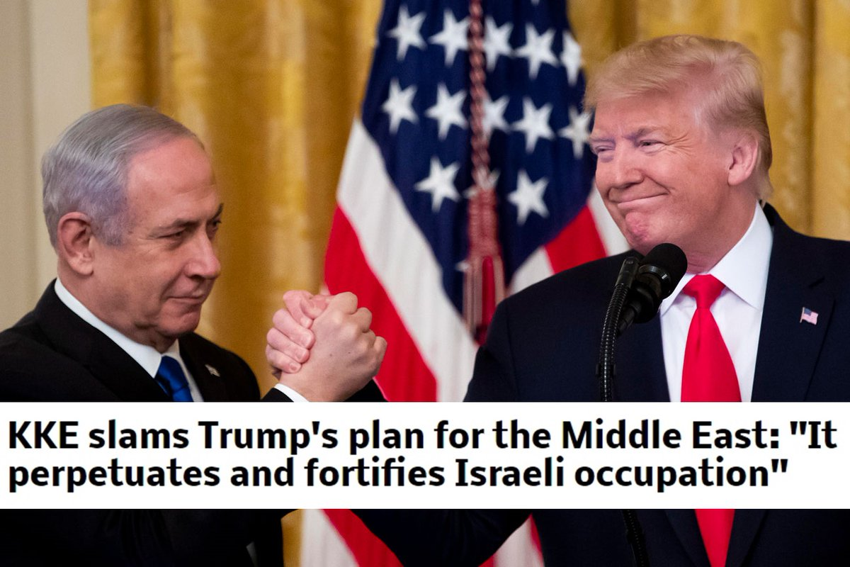 KKE slams Trumps plan for the Middle East: It perpetuates and fortifies Israeli occupation  https://www.idcommunism.com/2020/01/kke-slams-trumps-plan-for-middle-east-it-perpetuates-and-fortifies-israeli-occupation.html  …  #MiddleEastPeacePlan  #Israel  #KKE   #Palestine  #Trump  #USA  #PeacePlan