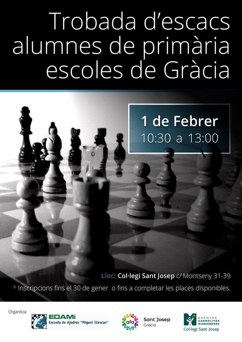 El Sant Josep, seu de la Trobada d'escacs amb alumnes de Primària d'escoles de Gràcia. @escuelaEDAMI @stjosepgracia  @AFASantJosep https://t.co/Zwfr7ICL4A