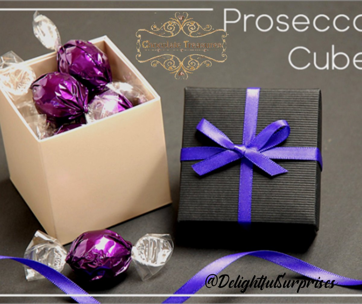 MILK CHOCOLATE PROSECCO TRUFFLE CUBE Was £7.95 Now only£6.95  These milk chocolate prosecco truffles are divine! A soft and creamy centre that just melts in your mouth!    #prosecco #proseccolover #proseccoparty #proseccolove #proseccolovers