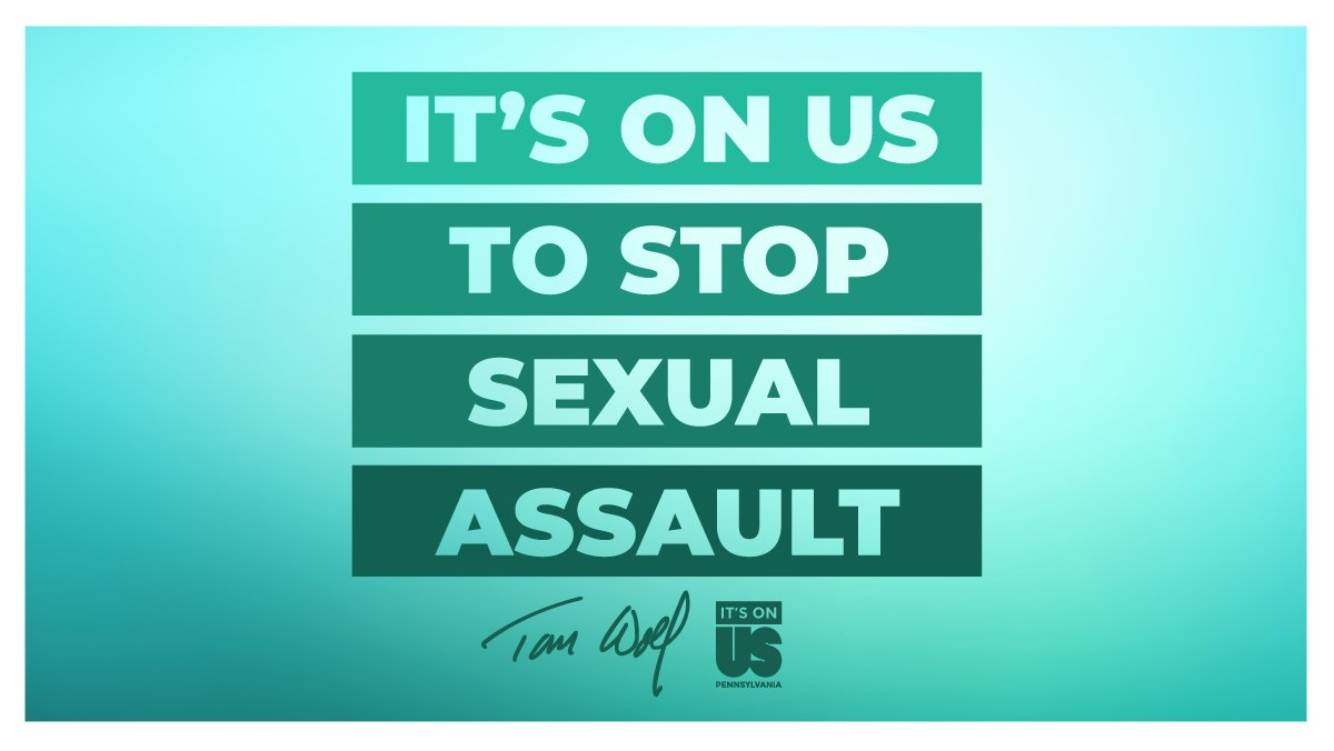 Join the fight against sexual violence in Pennsylvania. Take the pledge: governor.pa.gov/its-on-us. ✊