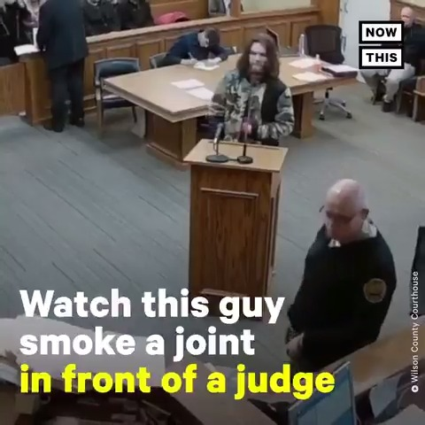 But what about the guy right behind him?  He deserves to be pointed out with a yellow arrow as well.  He stayed focused as if he was finishing a final exam, or maybe his life depended on that paperwork.  He didn't give a damn about anything going on!  #joint #marijuana 😂