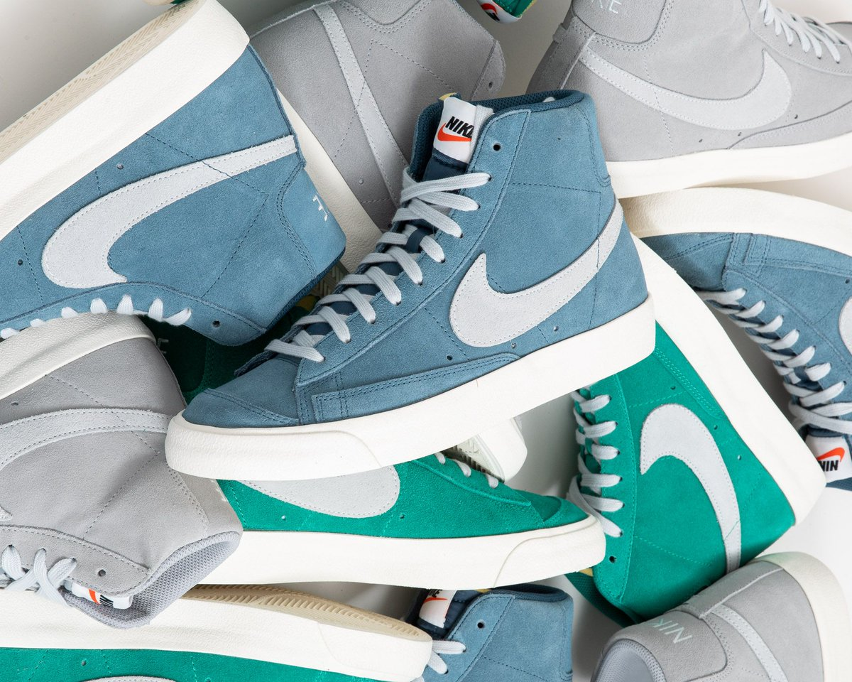 #comingSOON  The Nike Blazer Mid '77 Suede dropping tomorrow Thursday, 30th January online 9AM CET check it out  http://bit.ly/2U77WmY sizerun  US 4 (36) - US 12 (46) style code  CI1172-300 / CI1172-400 and CI1172-001. #nike #nikeblazer #blazer77 #suedepic.twitter.com/qHmK4OsBNi