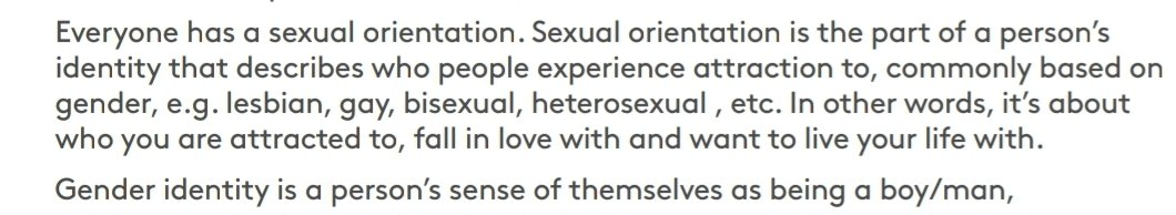 This is a great start. Sexual orientation is commonly based on gender apparently. Well done guys, conflation already and we're only a few pages in. pic.twitter.com/nfkGxh7i7G