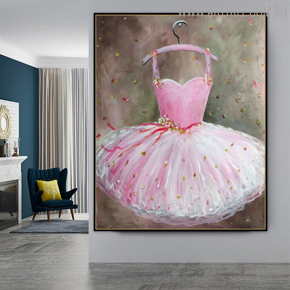 Every women favorite thing to wear is Gown. Hang this beautiful watercolor painting to make your home look stylish and stunning.   #acrylicpainting #oilpainting #artwork #homedecor
