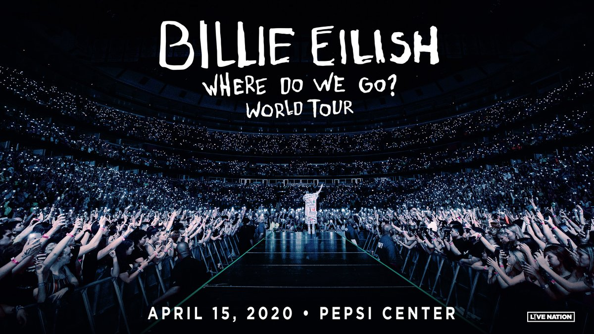 Due to an unforeseen scheduling conflict, the date of the @billieeilish show at Pepsi Center in Denver has changed to Wednesday, April 15.  Tickets for the April 1 show are still valid.  Refunds are also available if needed, at point of purchase.