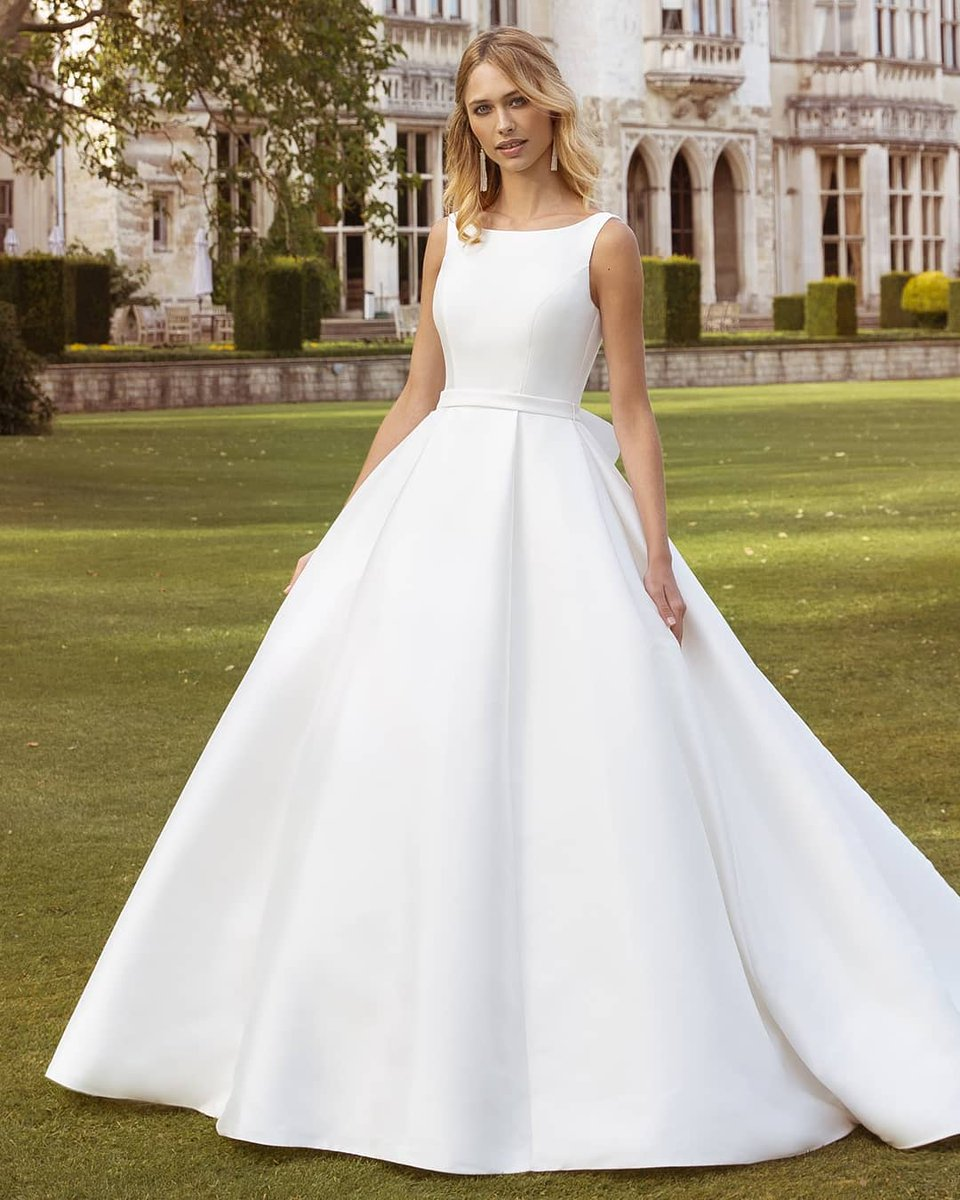 🎉🎉NEW STOCK🎉🎉   How classy is this dress that has arrived into stock by @ellisbridals style 11777 (Imogen) in ivory in stock in a UK14   #wedding #weddingdress #mikado #ellisbridal #bride #b2b #bridetobe #bridalwear #classy #shoplocal #bury #manchester