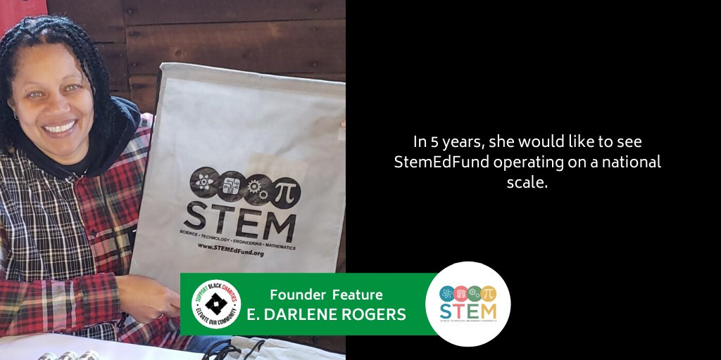 Darlene Rogers is the founder of @STEMedfund . She hopes to get more young girls and minorities  involved in STEM programs.  #stem #stemeducation #education #stemprograms pic.twitter.com/zt5KgvnV7q