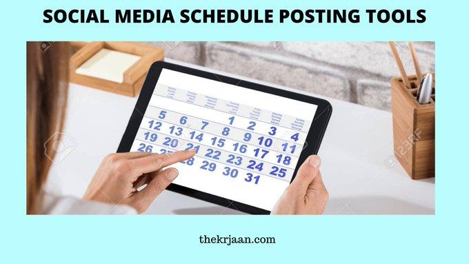 Social Media Schedule Posting Tools