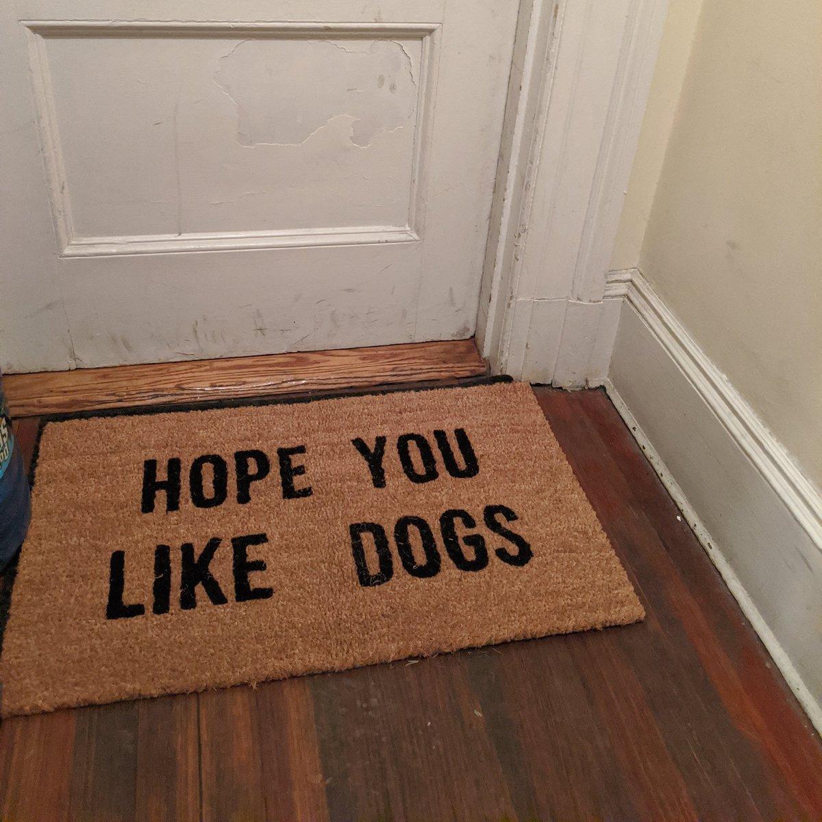 My neighbor's new door mat. 😂